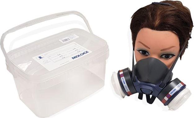 Image sur 1/2 Masque Bi-Filtre M7002 complet avec box de rangement